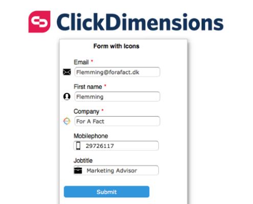 ClickDimensions-webform-med-ikoner